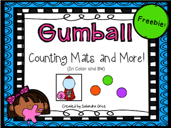 Gumball Counting Mats and More! Freebie!