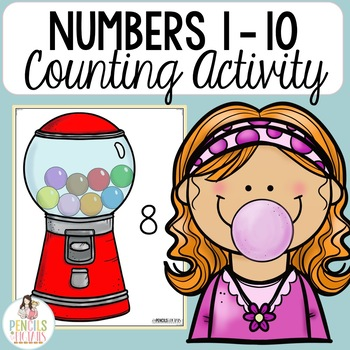Gumball Counting - Numbers 1-10 - Counting Practice & Number Words