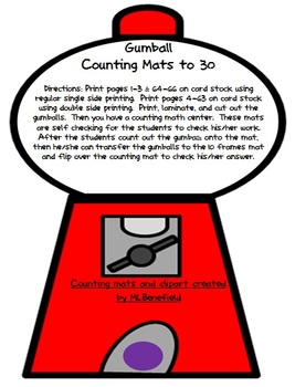 Gumball Counting Sets Mats