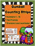 Gumball Counting Strips! Count using anchors of 5 & 10