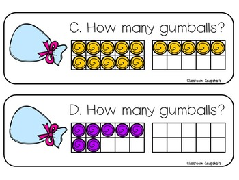 Gumball Counting with Ten Frames