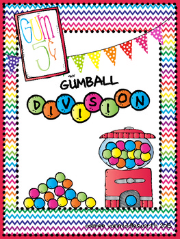 Gumball Division Math Facts for Math Centers
