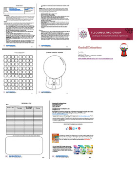 Gumball Estimations Packet