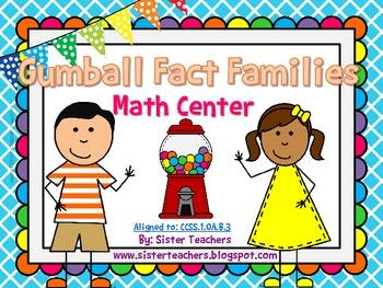 Gumball Fact Family- Math Center