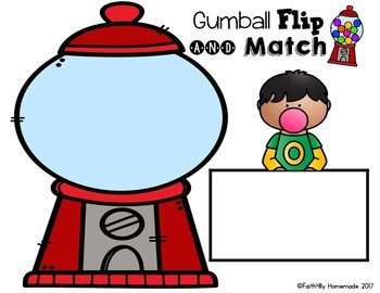 Sight Word Center {Gumball Flip & Match}
