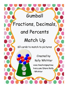Gumball Fractions, Decimals, and Percents Match Up