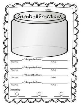 Gumball Fractions FREEBIE