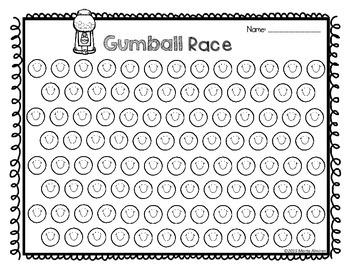 Gumball Fun Math Centers