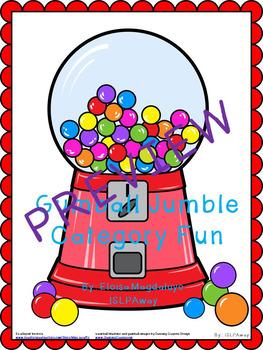 Gumball Jumble Category Fun