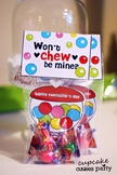 Gumball Love Valentine Card Favor Hand out Classroom Party