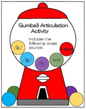 Gumball Machine Articulation Activity