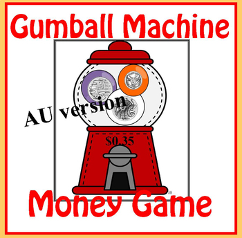 Gumball Machine Australian Money Game