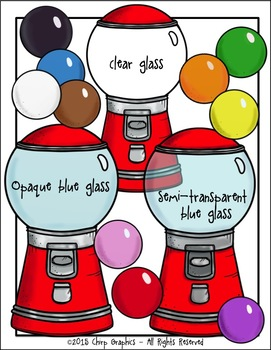 Gumball Machine/Bubble Blowing Contest Clip Art Set - Chirp Graphics