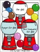 Gumball Machine and Bubble Blowing Contest Clip Art - Chirp Graphics