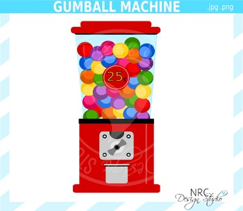 Gumball machine clipart commercial use