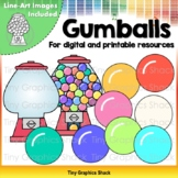 Gumball Machine Clip Art | for both Printable and Movable