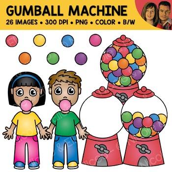 Digital Graphics - Gumball Machine Clipart