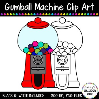 Gumball Machine Clipart FREEBIE!!!