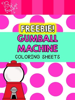 gumball machine coloring pages freebie by pink at heart tpt gumball machine coloring pages freebie