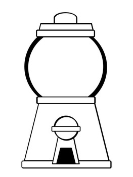 image relating to Gumball Machine Printable known as Gumball Gadget Coloring Webpages FREEBIE!