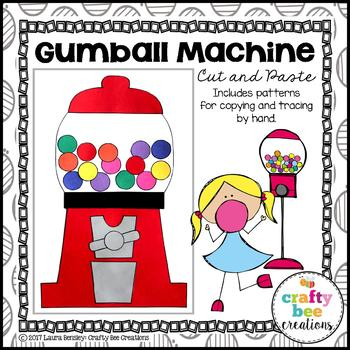 Gumball Machine Cut and Paste