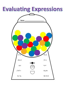Gumball Machine - Evaluating Expressions