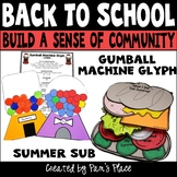 Back to School Glyph and Writing Activity