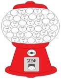 Gumball Machine Incentive for Word Card Sets A-T