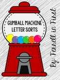 Gumball Machine Letter Identification Activities