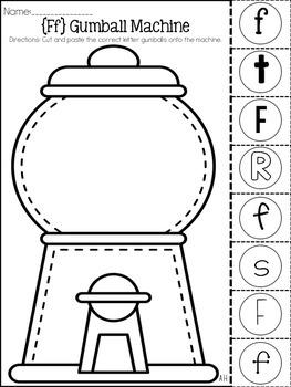 Gumball Machine Letter Identification Activities