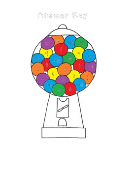 Gumball Machine Math-Add, Subtract, Multiply, & Divide Fractions