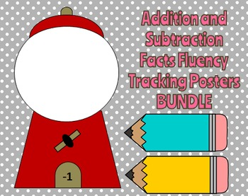 Math Fluency Tracking Posters Addition and Subtraction Bundle
