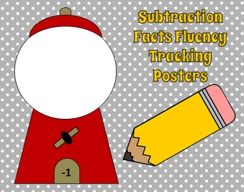 Math Fluency Tracking Posters Subtraction