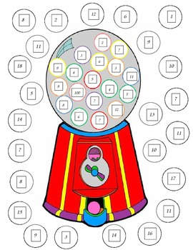 Gumball Machine Math Game