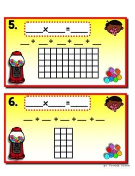 Gumball Machine Multiplication Tiered Math Tub