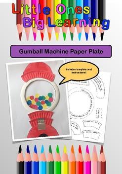 Paper Plate Gumball Machine
