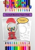Gumball Machine Paper Plate