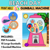 Gumball Machine Reward BEACH DAY THEMED Summer Bubble Gum