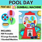 Gumball Machine Reward POOL DAY THEMED Summer Bubble Gum C