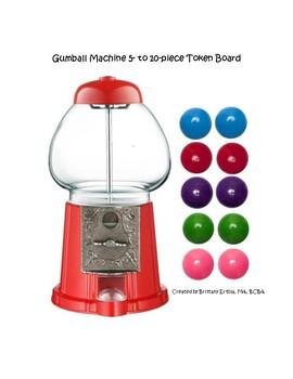 Gumball Machine Token Board & Tokens (5-10 piece)
