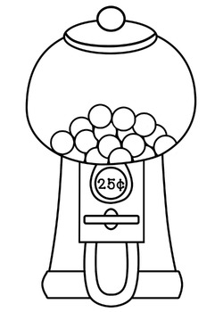 Gumball Machine and Gumball Clipart - 18 Images - JPEGs/PNGs - Blacklines Too!