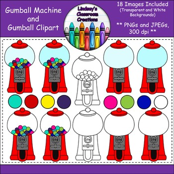 Gumball Machine and Gumball Clipart - 18 Images - JPEGs/PN