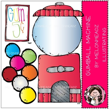 Melonheadz: Gumball Machine clip art - COMBO PACK