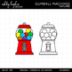 Gumball Machines Clipart {A Hughes Design}