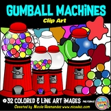 Gumball Machines and Bubble Splats Clip Art for Teachers
