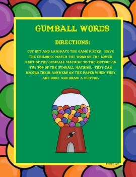 Gumball Matching  K-1