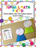 Gumball Math Addition Fact Tests with Incentive and Progre