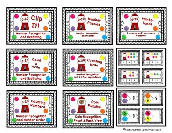 Gumball Math Centers Bundle- 8 Centers for New TEKS & CCSS for Kinder & First