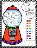 Gumball Math Coloring Addition Worksheet Bundle