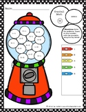 Gumball Math Coloring Worksheet Addition to 5
